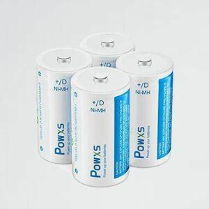 新品 未使用 単一電池 POWXS W-6J 単1形 単一充電池 充電式 ニッケル水素充電池 7000mAh 約1200回使用可能 4本入り 液漏れ防止