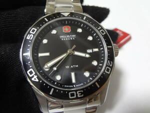 スイスミリタリー SWISS MILITARY FLAGSHIP ブラック 腕時計  展示未使用品