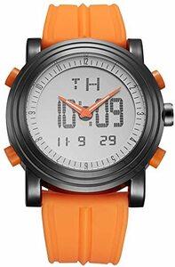 3 BUREIメンズ多機能LED腕時計ファッションアスリート防水アナログデジタルメンズカジュアル電子腕時計ラバーストラップ (3