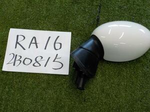 BMW MINI RA16 left door mirror cover color * white base . crack equipped *