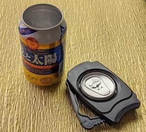 送料無料 新品未使用 缶切りオープナー 小型 携帯 便利 簡単 アウトドア キャンプ パーティー ブラック