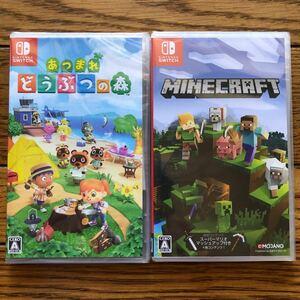 新品未開封 Nintendo Switch マインクラフト どうぶつの森  Minecraft