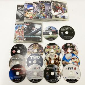 e) ソニー PlayStation3 PS3 ディスク22枚まとめて ドラゴンボール ワンピースなど Willディスクおまけ ※小傷・動作確認未 ジャンク品