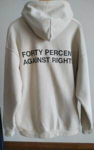 FPAR 2021SS COURAGE HOODIE FORTY PERCENT AGAINST RIGHTS パーカー Lサイズ  wtaps