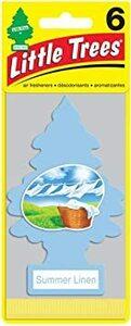 リトルツリー エアフレッシュナー 6pac【Summer Linen】 お得な6枚セット!LittleTree 芳香剤 サマーリ