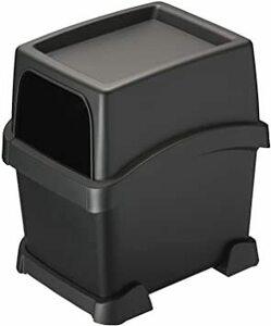 黒 カーメイト 車用 トレー付き ゴミ箱 【倒れないサポーター付き】 ブラック 日本製 DZ573