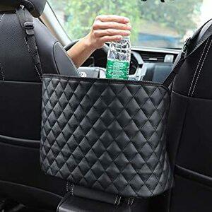 車用収納ポケット 車 収納バッグ カバンホルダー 撥水加工 汚れ・傷に強い 省スペース 大容量 取り付けが簡単 チェック(黒)