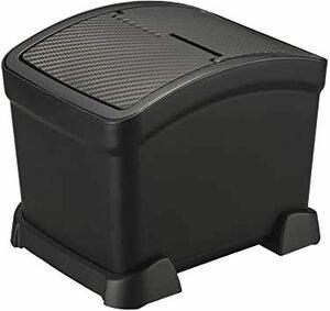 黒 カーメイト 車用 フタ付き ゴミ箱 【倒れないサポーター付き】 カーボン調 ブラック 日本製 DZ572
