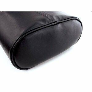 ブラック(BLACK) H210×W220×D110(mm) カーメイト 車用 ゴミ箱 スリムダスト おもり付き 本革調 ブラッ
