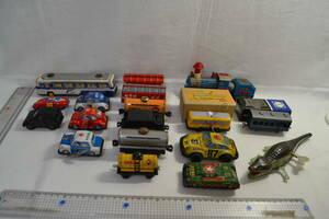 M22) Showa Retro zen my toy tin plate railroad toy made of metal vehicle toy etc. etc. vehicle 17 pcs +wani. zen my toy
