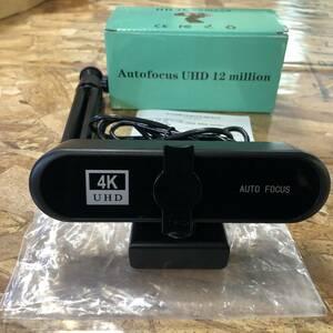 WEBカメラ AutoFocus 4K ウェブカメラ 高画質 1200万画素 120度広角 USB接続 347