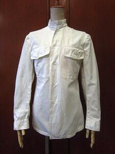 ビンテージ40's★U.S.NAVYコットンユニフォームジャケット白★1940sミリタリー米軍実物USN海軍スタンドカラー夏用サマー