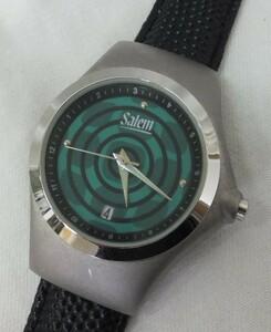 【中古動作品】★salem セーラム 3針日付クォーツ腕時計