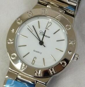 【未使用動作品】★CHRAOR 3針クォーツ 腕時計 ★白文字盤