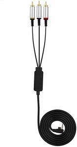 default PSゲームケーブル Acouto 1.5M ABS AVケーブル PSP1000 2000 3000用 コンポー
