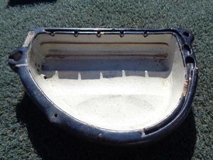 繭洗鉢 陶器製 サイズ55×34×12㎝ 1個 検索 特許番号 信州〇組製 ヒビ、欠け有 養蚕資料 製糸場使用 長野県