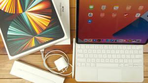 最落なし。第5世代iPad Pro 12.9インチ(1TBストレージ)。Apple Pencil + Magic Keyboard(USキーボード)付