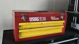 中古☆USAG 530 pole position Ferrari ウーザック 工具箱 ツールボックス 幅51cm 奥行22cm 高さ24cm