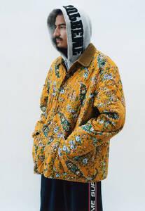 ◆ 美品 正規 本物 19AW Supreme Quilted Paisley Jacket Mustard マスタード M MEDIUM ペイズリー 中綿 キルティング ジャケット コート