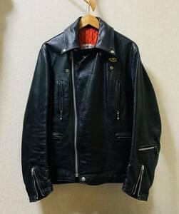 極美品 70s ルイスレザー 402 ライトニング ライダースジャケット 38 アディクト コムデギャルソン