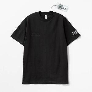 送料無料 即決 美品 ennoy スタイリスト私物 同色反転刺繍 Tシャツ ブラック Lサイズ エンノイ Tee