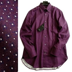 ■D'URBAN ダーバン 定価1.8万 日本製 胸ポケ付 コットンブロード レギュラーカラー 長袖 シャツ ドレスシャツ 316 79 LL ▲020▼are2181c