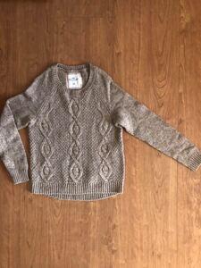 H&M ニット セーター ブラウン size:s レディース 茶 ボレロ ケーブル