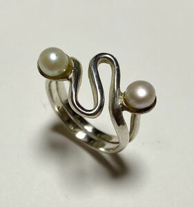 Pearl ring silver 925 13 Silver Freshwater Pearl Natural Stone Accessories