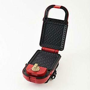 限定価格!レッド シングル単品 ブル[ノ BRUNO ホットサンドメーカー 耳まで焼ける 電気 シングル レッド BOE0PNZS
