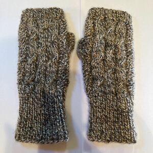 手編み アームカバー 手袋 アーム手袋 ハンドメイド ハンドウォーマー 指なし手袋