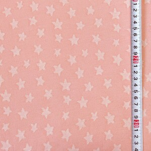 星柄 ジャガード 薄手 裏毛ニット 170×50cm ニット生地 布 はぎれ 星