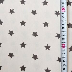 星柄 スムースニット 150×65cm 布 はぎれ ハギレ 星 ニット生地