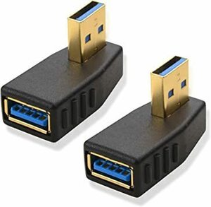 超安値!ブラック 90° 垂直アダプタ Cable Matters L字型 USB 3.0 アダプタ USB アダプタ HHU3