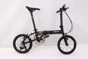 【新品】Mint Parts Bike 16inch T3(dahon k3同じレベル)ブラック 3スピード 折り畳み 自転車 アルミ製