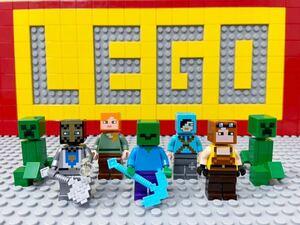 ☆マインクラフト☆ レゴ ミニフィグ ブラックスミス ドラゴンスレイヤー アレックス ゾンビ など ( LEGO 人形 マイクラ