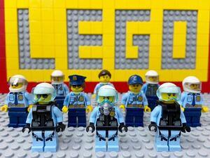 ☆ポリス☆ レゴ ミニフィグ 大量10体 警察官 警官 パイロット パラシュート部隊 ( LEGO 人形 シティ