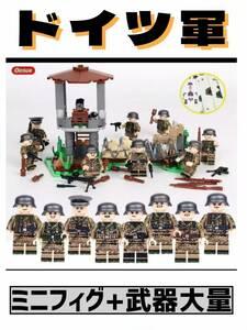 ☆国内発送☆ レゴ 互換 ミニフィグ ドイツ軍 兵士 兵隊 軍隊 第二次世界大戦 ( LEGO 人形 武器 ミリタリー S108