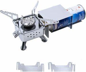 コンパクトバーナー シングルバーナー 自由に火力調節 3600Wまでの強力な火力 登山用 非常用 防災グッズ 家庭用 BBQ 遠足