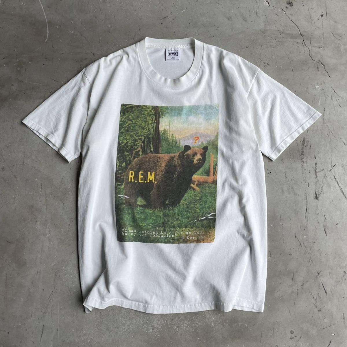 GOODプリント!1990s~R.E.M MONSTER TOUR Tシャツ ビンテージ USA製 オリジナル バンド アルバム REM モヘア のインナーに 80s 90s ツアー