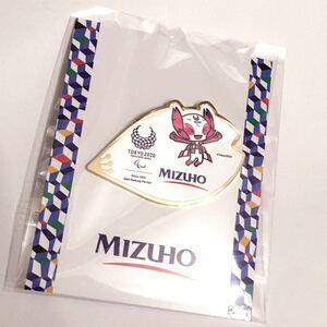 非売品☆みずほ銀行 MIZUHO 東京2020 東京オリンピック オリジナルピンバッジ ソメイティ ミライトワ