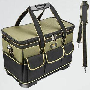 新品 好評 ツールバッグ Drado L-7F 撥水処理 40㎝×23㎝×28㎝ 工具バッグ 工具袋 道具袋 工具差し入れ 肩掛けベルト付き 大口収納