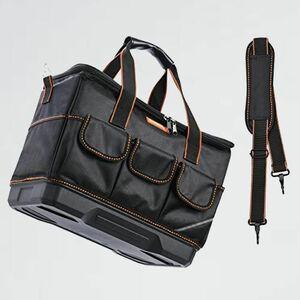 未使用 新品 工具バッグ ツ-ルバッグ 5-K6 工具収納&仕分け管理&運搬用 幅約41cm 工具袋 大口収納 肩掛けベルト付き 作業用 強化底