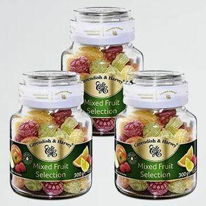 新品 未使用 ミックスフル-ツ カベンディッシュ&ハ-ベイ R-H9 キャンディ- 海外の美味しい飴 キャンディ-ジャ- 300g 3瓶セット