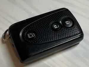 ダイハツ タント 純正 スマートキー 3ボタン 刻印 007YUU L0499 黒カバー タントカスタム L375S L385S パワースライドドア 中期 後期