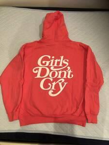 Girls Dont Cry パーカー VERDY フーディー ピンク Lサイズ Large ガールズドントクライ ガルドン GDC スウェット