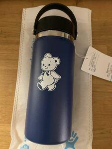 新品 ファミリア ハイドロフラスク ステンレスボトル 水筒 タンブラー ネイビー