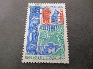 ★★★ フランス 1967年 【 観光切手 ( モルレーの風景 ) 】 単片 使用済 糊無 ★★★建物/彫像