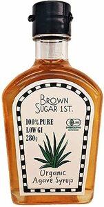 オーガニックアガベシロップ280g (有機 化学調味料無添加 砂糖不使用 100% 天然甘味料 非加熱 ブラウンシュガーファース