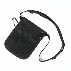 ウエストバッグ 多機能ポーチ 小物入れ 工具入れ 腰袋 工具袋★黒