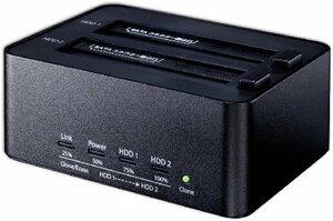ブラック クローン機能あり 玄人志向 SSD/HDDスタンド 2.5型&3.5型対応 USB3.0接続 PCレスでクロー